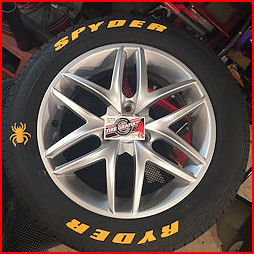 Merlins Blood Tire Cleaner and Tire Grafixx Tire Graphics and Lettering;